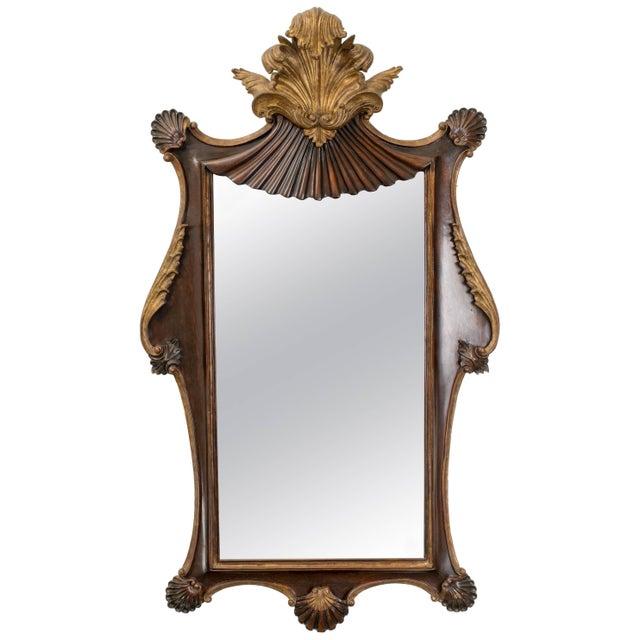 Antique Italian Giltwood Rococo Mirror For Sale - Image 9 of 9