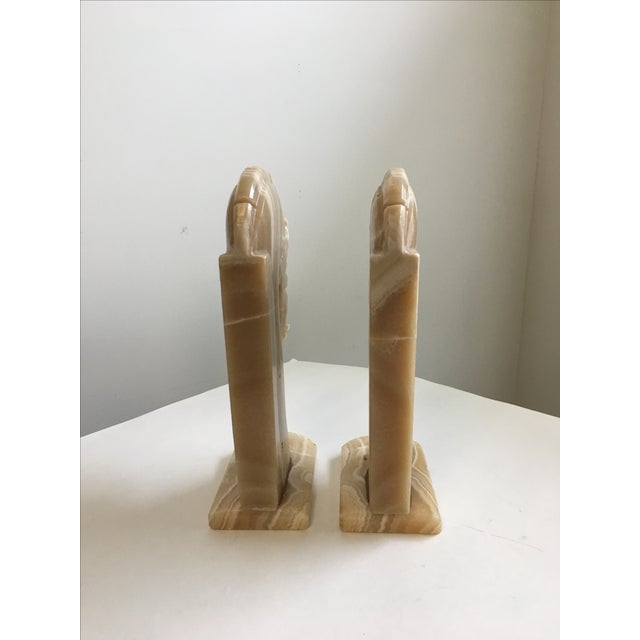 1960s Horse Head Bookends Carved Onyx Stone - a Pair For Sale - Image 5 of 10