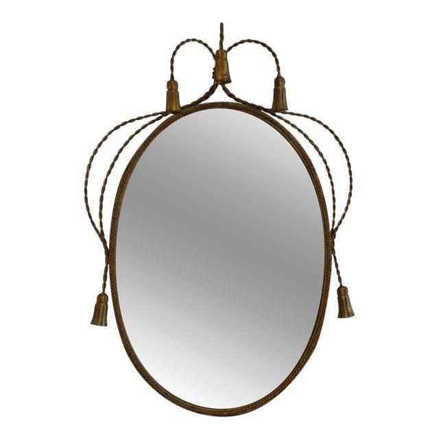 Hollywood Regency Gilded Frame Floral Mirror - Image 1 of 8