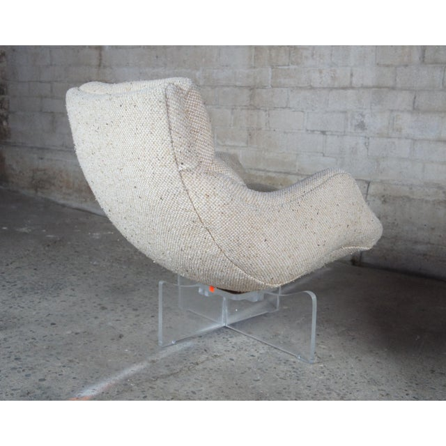 White 1960s Vladimir Kagan Cosmos Lounge Chairs- A Pair For Sale - Image 8 of 13