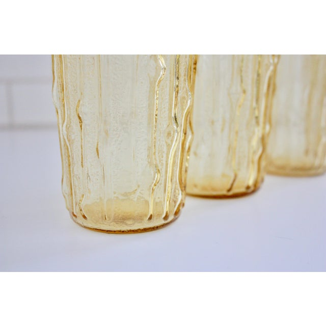 Vintage Bamboo Water Glasses - Set of 5 - Image 4 of 7