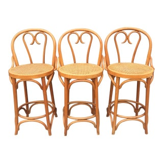 Romanian Bentwood Style Bar Stools - Set of 3