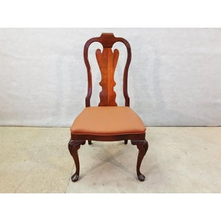Vintage French Chippendale Oak Side Dining Chair Preview