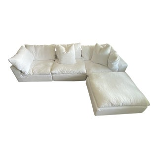 Restoration Hardware White Cloud Sectional For Sale