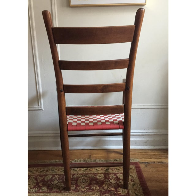 20th Century Shaker Style Ladderback Side Chair For Sale In New York - Image 6 of 7