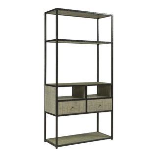Century Furniture Palmetto Etagere, French Grey For Sale
