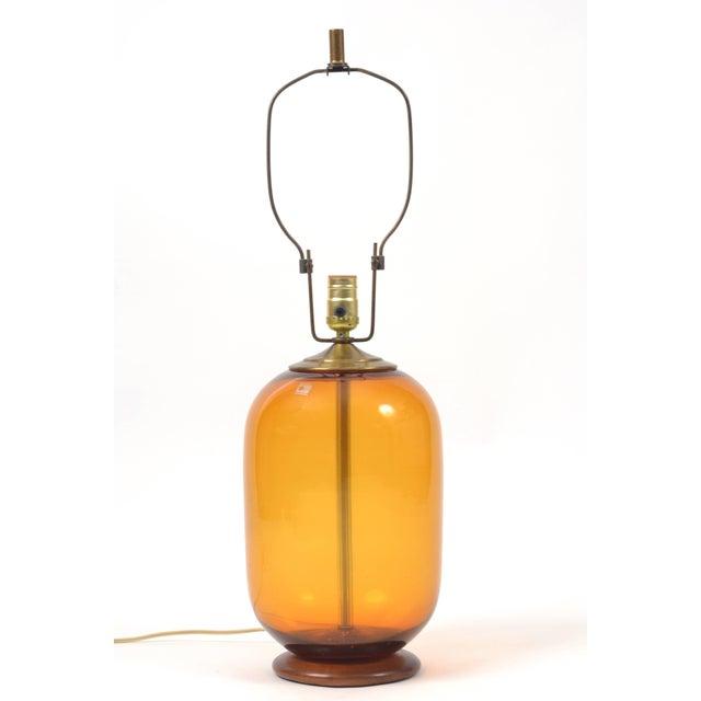 Mid-Century Modern Blenko Blown Glass Lamp Designed by Don Shepherd For Sale - Image 3 of 10