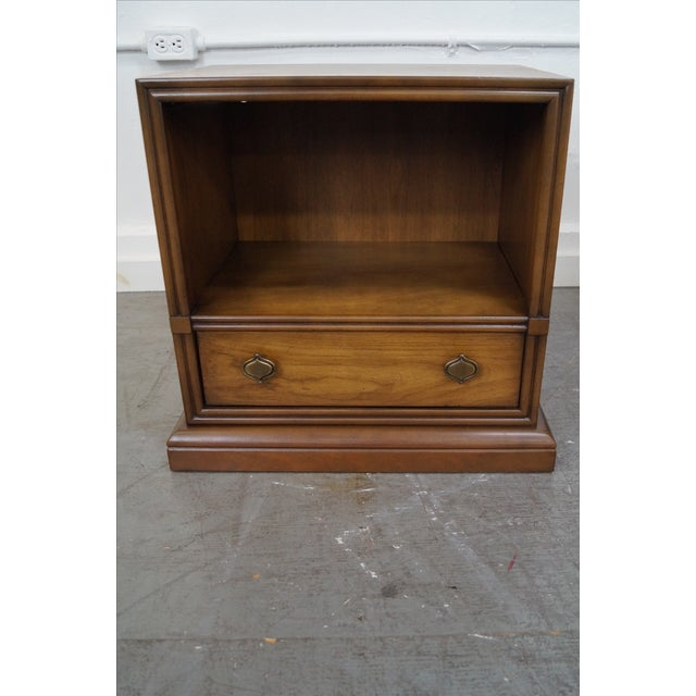 Drexel Plaudit Vintage Walnut Nightstands - Pair For Sale - Image 10 of 10