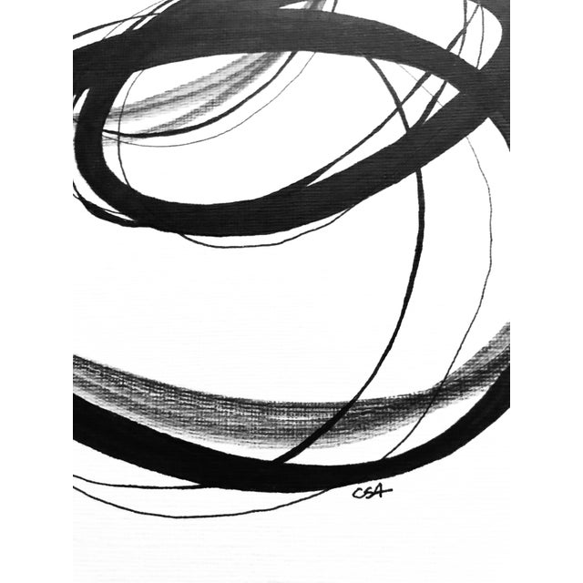 """""""Alternating Rings"""" Original Mixed Media Drawing For Sale - Image 4 of 7"""