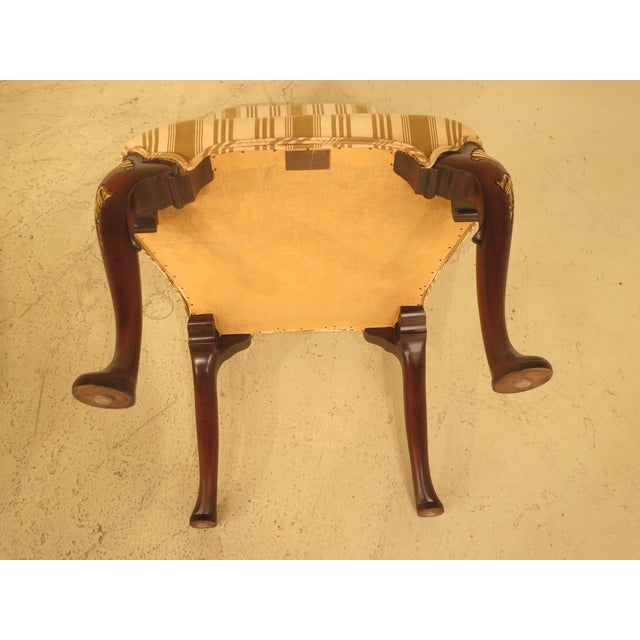 Kittinger Cw-67 Queen Anne Mahogany Upholstered Side Chairs - a Pair - Image 9 of 11