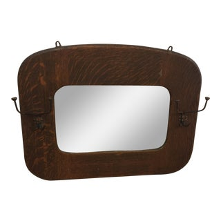 Antique Mirror & Coat Hooks-Final Markdown