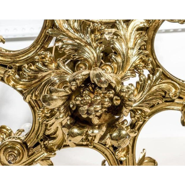 English Gothic Revival Bronze Chandelier For Sale In West Palm - Image 6 of 13