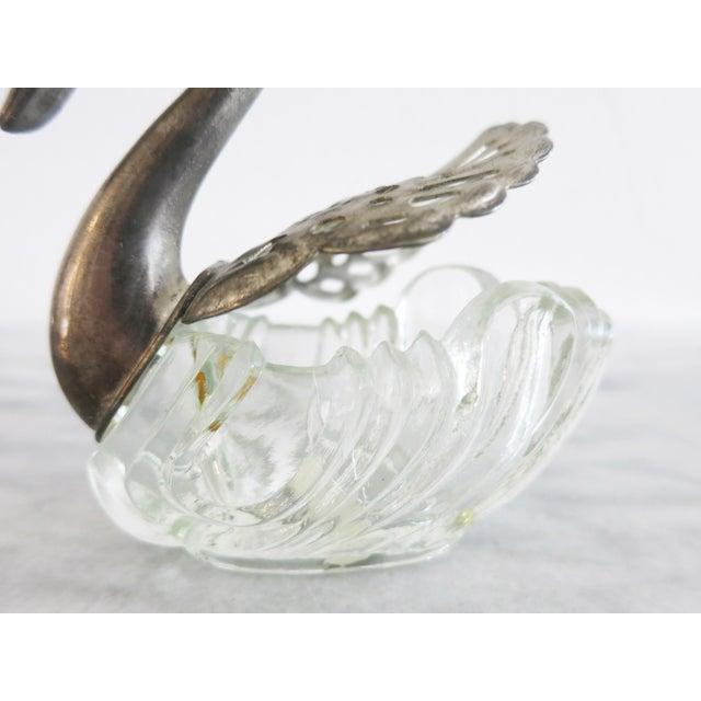 Vintage Godinger Swans Salt Well - Set of 4 For Sale - Image 9 of 10