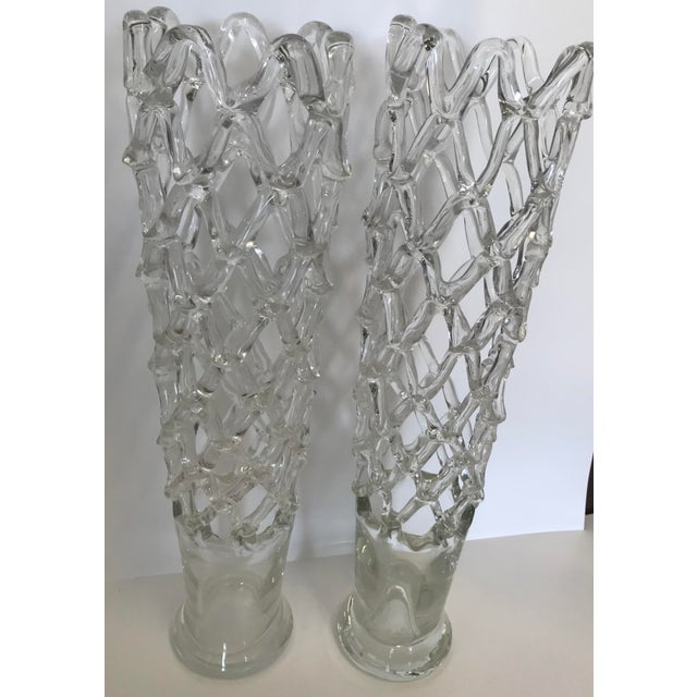 Vintage Reticulated Murano Vases A Pair Chairish