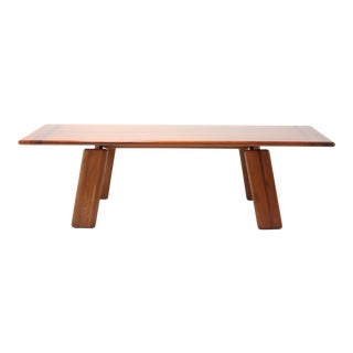 Postmodern Walnut Dining Table by Afra & Tobia Scarpa For Sale