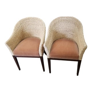 Nancy Corzine Accent Chairs- A Pair For Sale