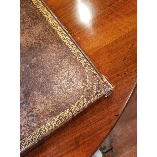 French Antique Gilt Leather Double Folding Blotter For Sale - Image 3 of 13