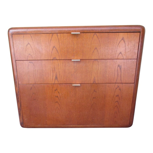 Image of Mid-Century Modern 3-Drawer File or Storage Cabinet With Rounded Corners