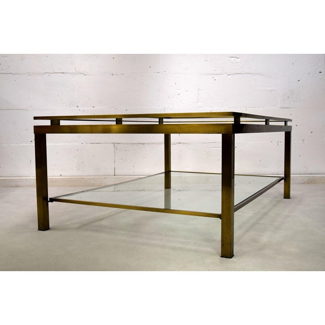 Exceptional Maison Jansen Brass TwoTier Coffee Table DECASO - Two level coffee table
