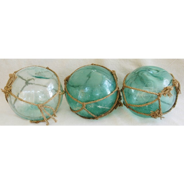 Jumbo Hand-Blown Glass Fishing Floats - Set of 3 - Image 2 of 5