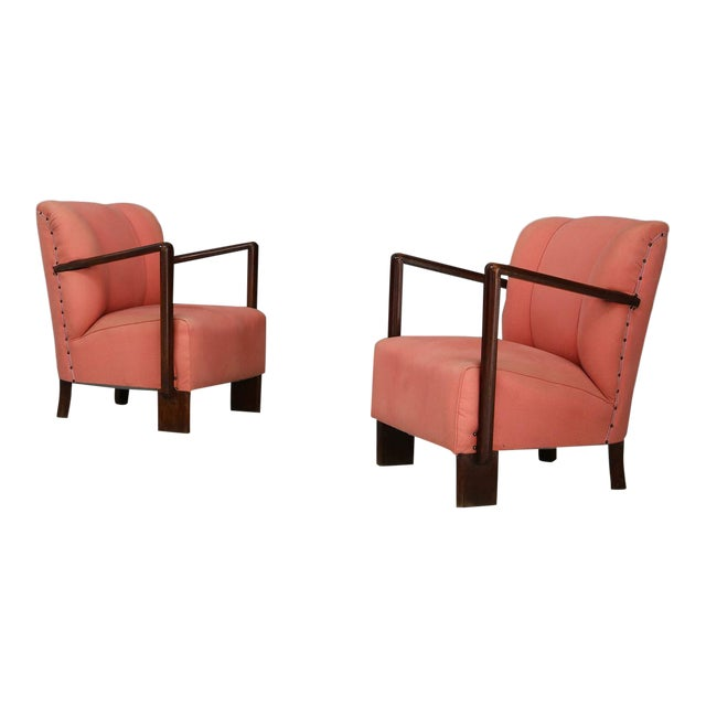 Pair of 50s Armchairs by Melchiorre Bega. For Sale
