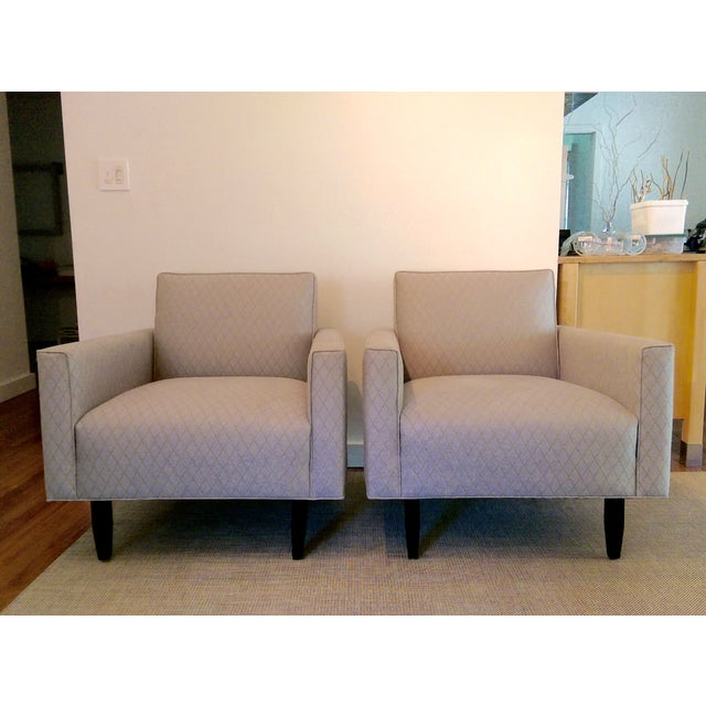 Room and Board Mid-Century Modern Chairs - a Pair - Image 8 of 11
