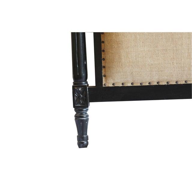 Burlap Upholstered Queen Headboard - Image 3 of 3