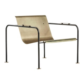 Brass and Steel Fairfax Lounge Chair by Colin Tury For Sale