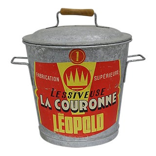 1960s French Laundry Washing Bucket For Sale