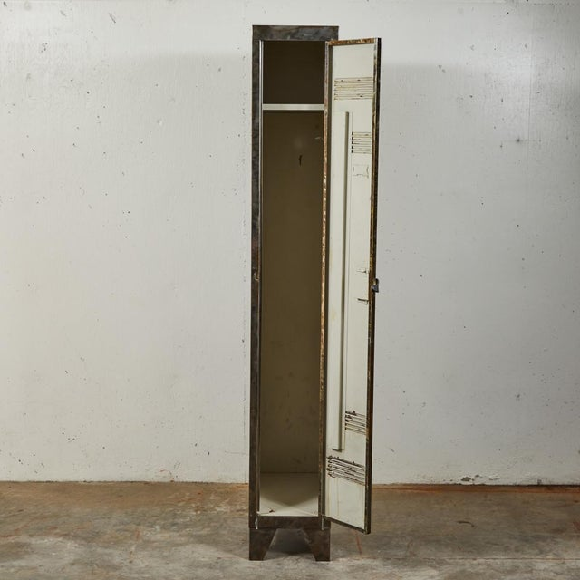German Industrial Metal Lockers, circa 1940 - A Pair For Sale - Image 4 of 10