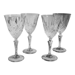 Set of 4- 24% Lead Crystal Goblets Salzberg Cristal De Flandre For Sale