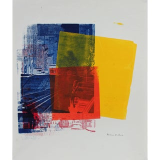 Barbara Lewis Pop Art Screen Print in Primary Colors, Circa 1970 For Sale
