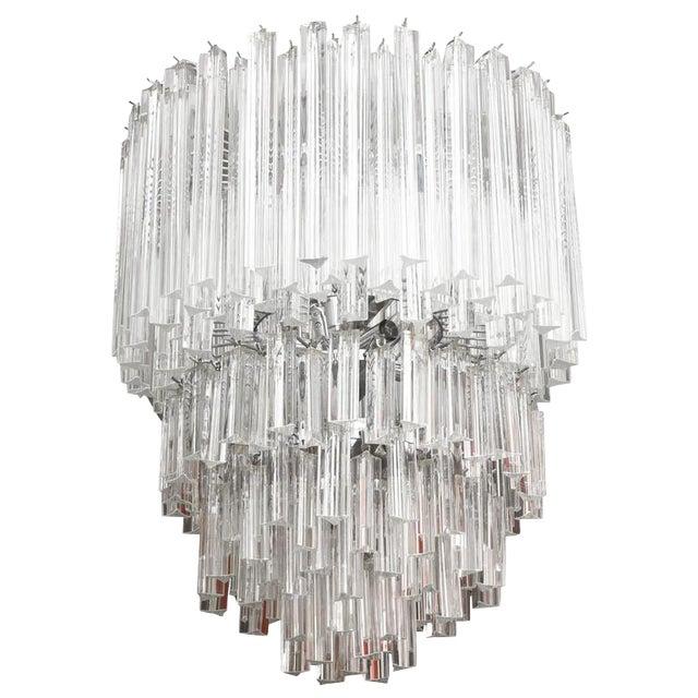 Luxury cascading italian murano venini glass prism chandelier decaso cascading italian murano venini glass prism chandelier image 1 of 8 aloadofball Choice Image