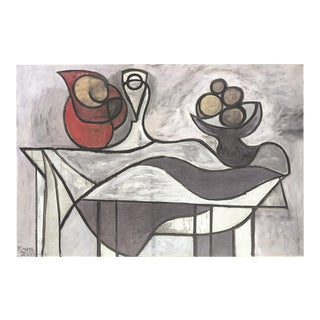 Pablo Picasso-pitcher and Bowl of Fruit-2012 Lithograph