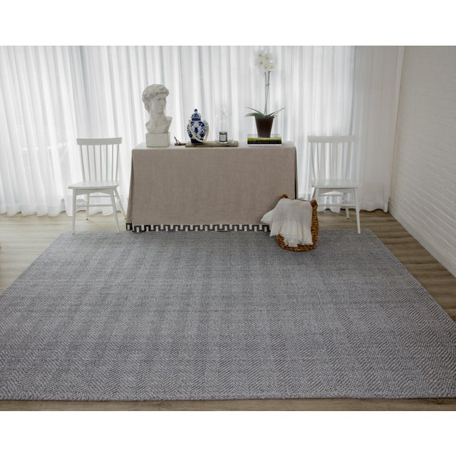 Fabric Erin Gates by Momeni Ledgebrook Washington Grey Hand Woven Area Rug - 5′ × 8′ For Sale - Image 7 of 8