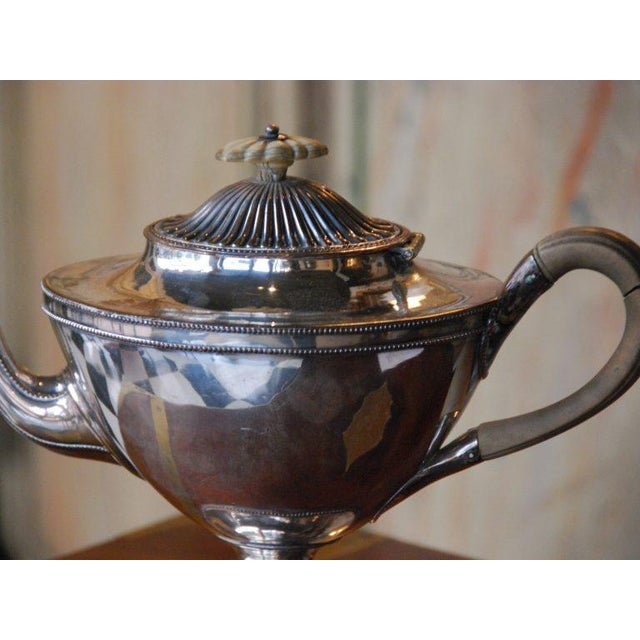 Silver Plated Tea Pot For Sale - Image 4 of 4