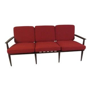 Danish Style American Walnut Sofa with Knoll Fabric