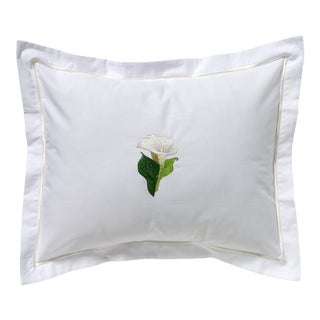 Calla Lily Boudoir Pillow, Embroidered For Sale