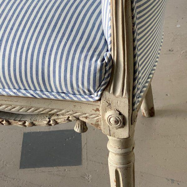 Neoclassical 1780 Swedish Neoclassical Painted Tub Chair For Sale - Image 3 of 6