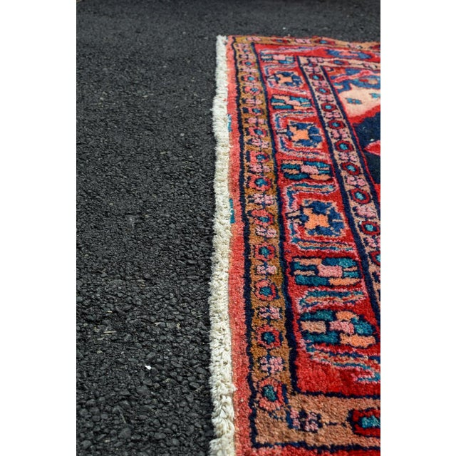 Mid 20th Century Vintage Mid-Century Hand-Knotted Persian Rug - 4′8″ × 9′11″ For Sale - Image 5 of 13