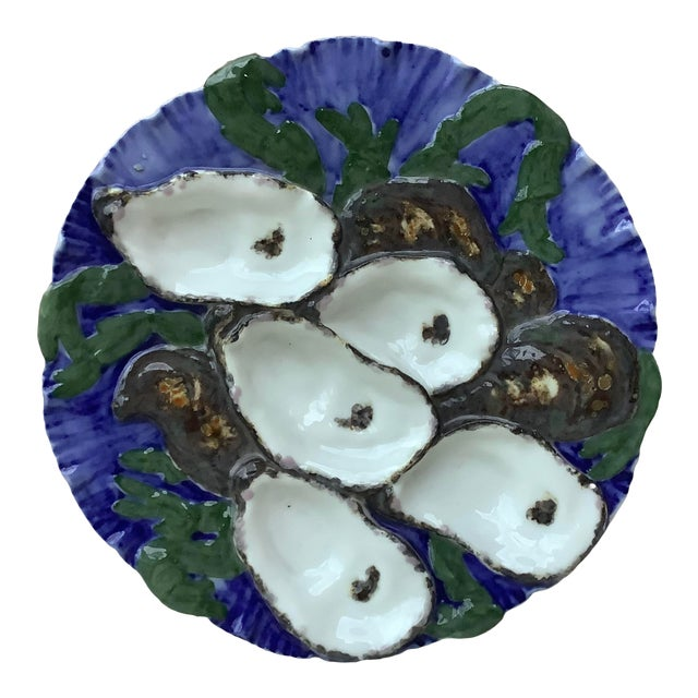 Haviland Limoges French Oyster Plate Porcelain with Turkey Pattern For Sale