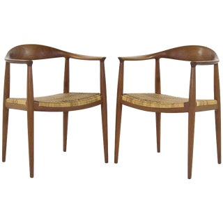 1950s Hans Wegner Johannes Hansen Model Jh501 Chair - a Pair For Sale