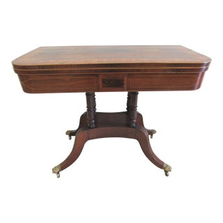 19th Century Regency Style Rosewood Flip Top Game Table For Sale