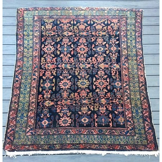 "Antique Persian Hamadan Rug - 5'4"" X 6' - Image 2 of 10"