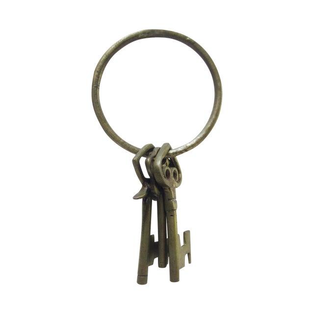 Oversize Hollywood Glam Large Brass Skeleton KeyS Ring Set - Image 1 of 9
