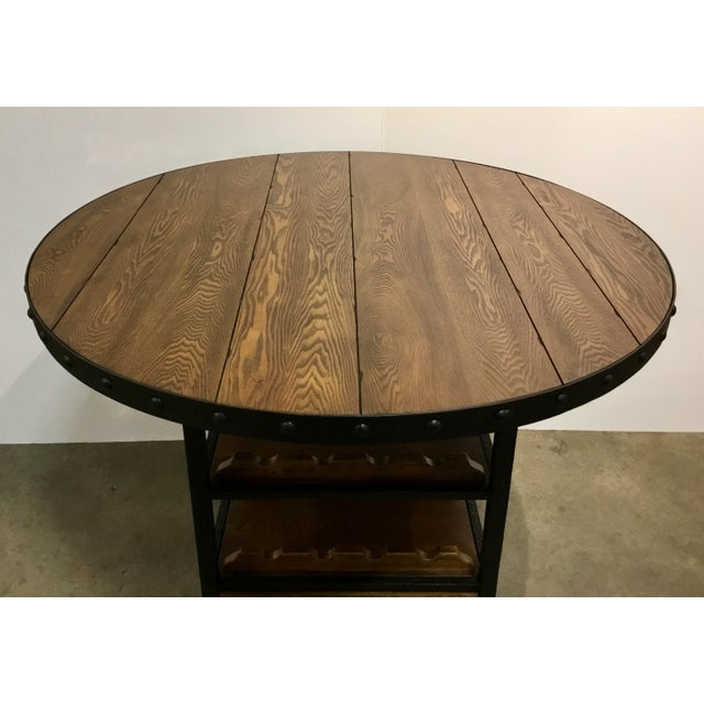 Organic Modern Counter Height Wine Dining Table For Sale - Image 4 of 5