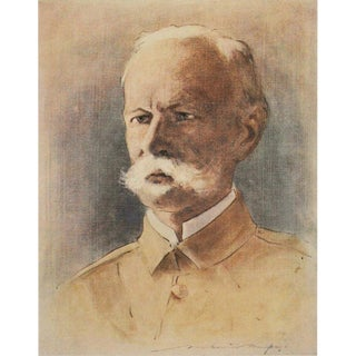1901 M. Menpes Original Lithographic Portrait of Lord Roberts For Sale