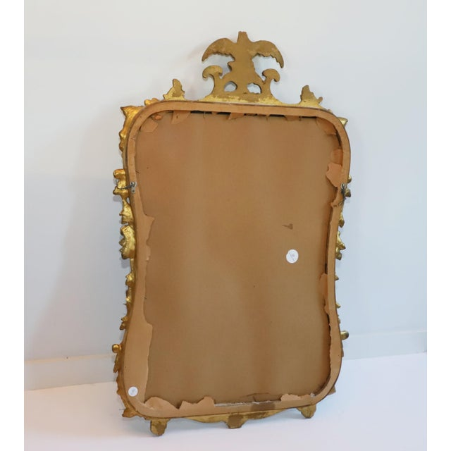 French Antique Gilt Gesso Mirror From Waldorf Astoria Hotel New York City For Sale - Image 3 of 5