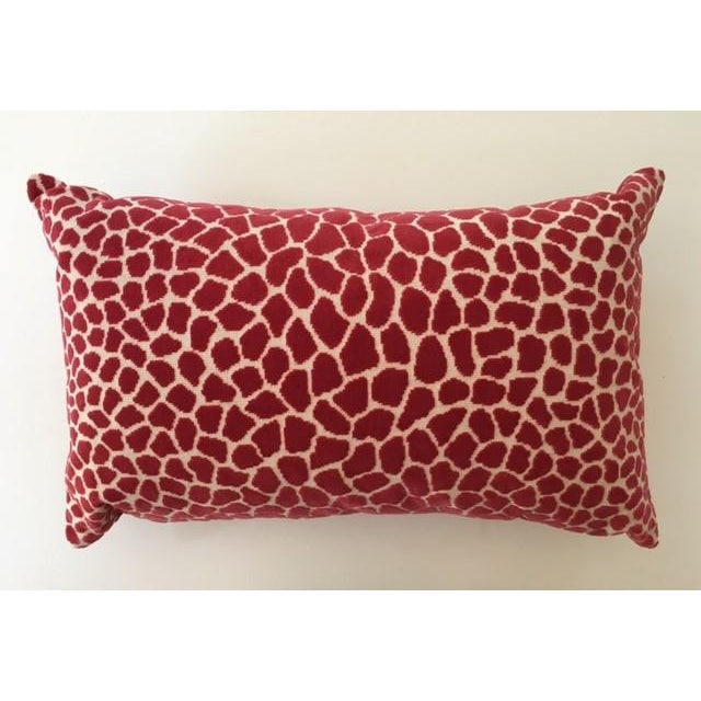 Clarence House Pink Leopard Velvet Accent Pillow - Image 2 of 4
