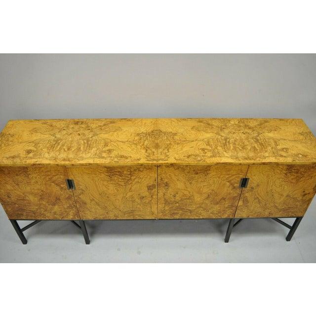 Mid-Century Modern Roger Sprunger for Dunbar Burled Olivewood Credenza For Sale - Image 3 of 13